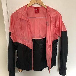 NIKE pink and black womens windbreaker